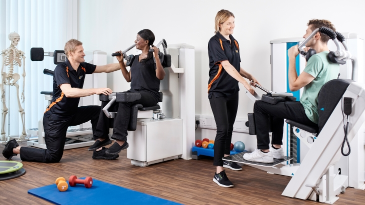 Schoen Clinic London - physiotherapy gym